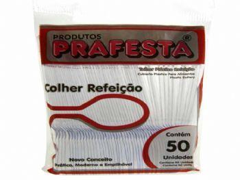 COLHER PLASTICA REFEICAO CRISTAL PT-50 PREMIUM PRAFESTA