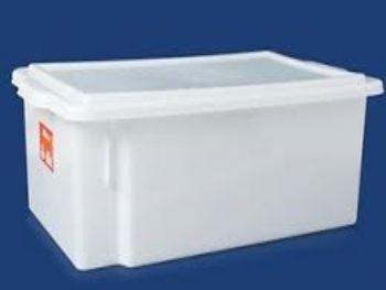 CAIXA PLAST 53cmx32cmx18cm BRANCA C/TP FECH PLEION 0530