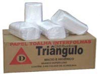 Toalha de Papel 22,5x22,5 2D Luxo Triangulo CX-5000