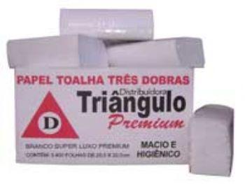 Toalha de Papel 22,5x22,5 3D BR Premium Triangulo CX-2400