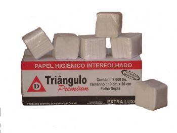 PAPEL HIG INTERFOLHA 20,8x10 F. DUPLA CX-8000 PREMIUM TRIANAGULO