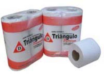 PAPEL HIG ROLO TRIANGULO PREMIUM FOLHA SIMPLES 30 MTS