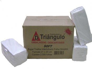 TOALHA PAPEL 20x21 BRANCA SOFT TRIANGULO CX-2000