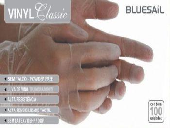 LUVA DE VINIL P-M-G CLASSIC + SAUDE S/TALCO