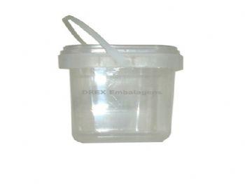 POTE PLAST 1000ML QUADRADO C/TP W.S P/CONSERVA P1000