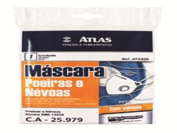 MASCARA PROTECAO AZUL COM VALVULA AT2400 ATLAS
