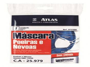 MASCARA PROTECAO AZUL SEM VALVULA AT2500 ATLAS