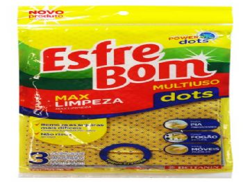 PANO MULTIUSO POWER DOTS 50 X 30 CM ESFREBOM PT - 3 BT5001