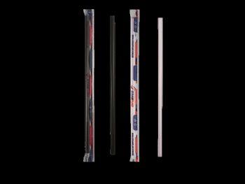 CANUDO PLAST MILK SHAKE SACHE PRETO 30x100 STRAWPLAST CS-331