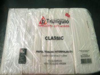 TOALHA PAPEL 21x20 BRANCO CLASSIC TRIANGULO FD-1000