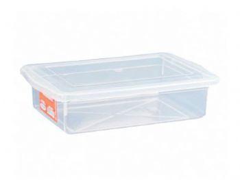 CAIXA PLAST 54,5x38x25 C/TP FECH TRANSP PLEION 0550