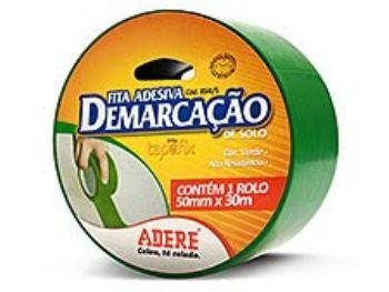 FITA ADESIVA DEMARCACAO DE SOLO VERDE 50MMx30M ADERE