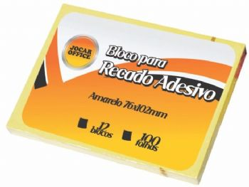 BLOCO ADESIVO PARA RECADO 76mmx102mm JOCAR CD.91113