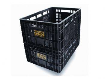 CAIXA PLAST 58cmx37cmx22cm 6424 S/TP GRAD PRETA JR
