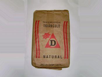 TOALHA PAPEL 23cmx21cm NATURAL TRIANGULO FD-1000