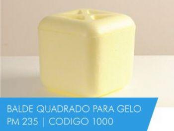 BALDE DE GELO QUADRADO 2,5 LT STYROCORTE 1000