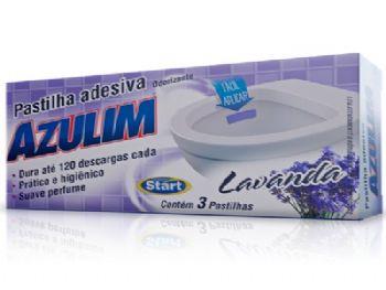 PEDRA SANITARIA ADESIVA AZULIM LAVANDA C/3 UN