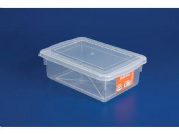 CAIXA PLAST 25cmx17cmx08cm C/TP FECH TRANSP 2,5L PLEION 0310