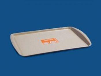 BANDEJA PLAST 23,6cmx35cmx2,3cm FAST FOOD BEGE PLEION 0397