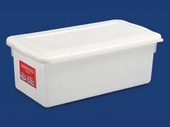 CAIXA PLAST 33,7cmx17cmx12,8cm BR C/TP FECH 5L PLEION 0510