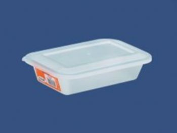 CAIXA PLAST 23,5cmx15cmx5,8cm C/TP FECH TRANSP 1L PLEION 0705