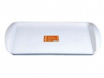 BANDEJA PLAST 23,6cmx35cmx2,3cm FAST FOOD BRANCA PLEION 7397