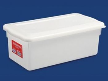 CAIXA PLAST 53,9cmx42cmx13,2cm BRANCA S/TP FECH PLEION 7575