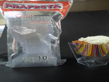 COPO QUADRATTO 150 ML CRISTAL C/TP PRAFESTA CX-300