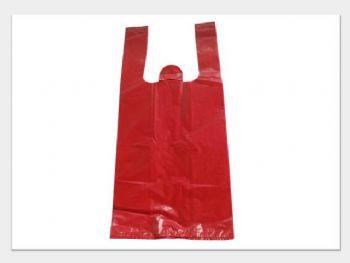 SACOLA 30cmx45cmx04mm COR VERMELHA RECICLADA 4,43KG-MH