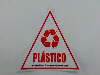ETIQUETA 20cmx20cm COLETA SELETIVA PLASTICO
