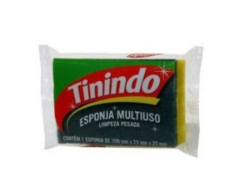 ESPONJA DUPLA FACE MULTIUSO TININDO PT-10 CX-100 3M