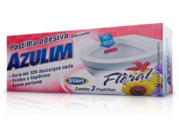 PEDRA SANITARIA ADESIVA AZULIM FLORAL C/03 UN