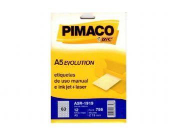 ETIQUETA PIMACO R-1919  A5 EV-12 FLS
