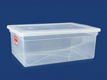 CAIXA PLAST 47x32x17 C/TP FECH TRANSP 20L PLEION 0340